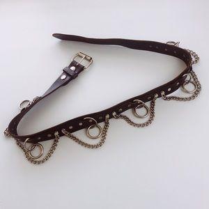 Hot Topic Genuine Leather Bondage Belt size 36
